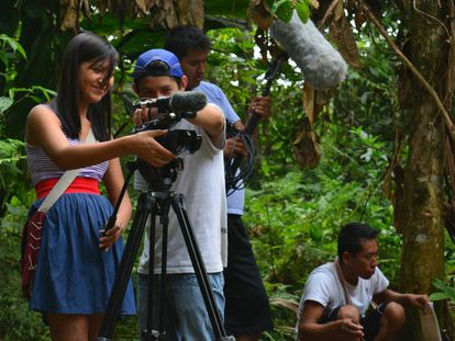 Alisson Antazú, adolescente de pueblo Yanesha, en la selva central.