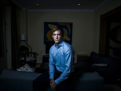 Miguel Luque este miércoles en su casa de Madrid.