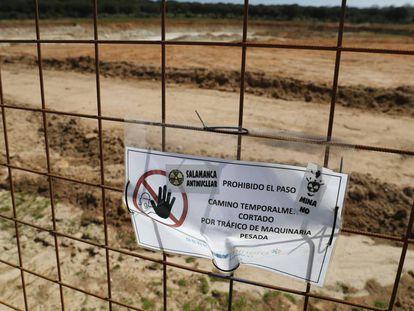 Zonas en obras donde está previsto levantar la mina de uranio en Salamanca.