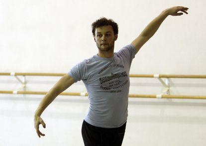 Liam Scarlett durante unos ensayos con el Miami City Ballet, en 2012.