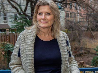 Jennifer Egan en su casa de Brooklyn, Nueva York, el pasado 23 de enero.