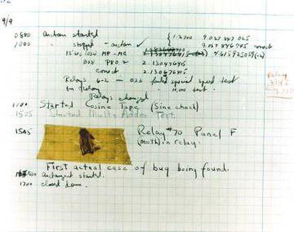 Log del primer bug informático encontrado