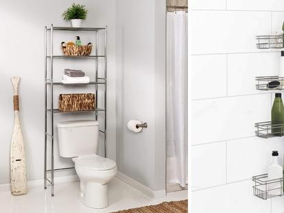 Pon orden en tu baño y organiza todos tus artículos con estos estantes y armarios top ventas en Amazon.
