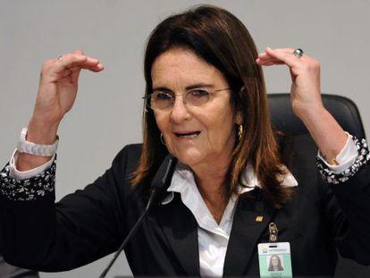 La presidenta de Petrobras, Maria das Graças Silva Foster.