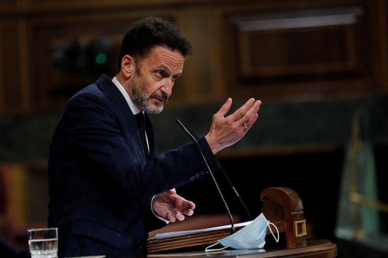 El portavoz adjunto de Ciudadanos, Edmundo Bal, durante su intervención en el pleno este jueves en el Congreso.