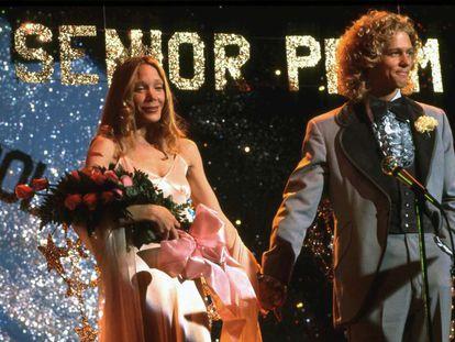 Sissy Spacek y William Katt, en un fotograma de 'Carrie' (1976).