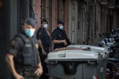 Varios 'mossos d'esquadra', en una foto de archivo.