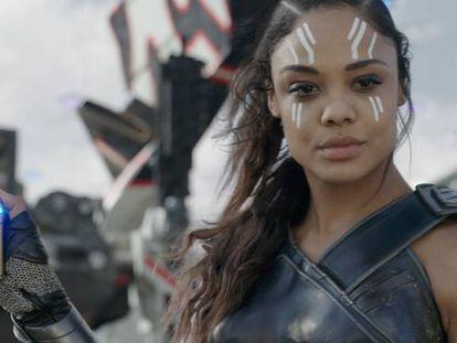 La Valkiria, personaje encarnado por Tessa Thompson, en 'Thor: Ragnarok'.