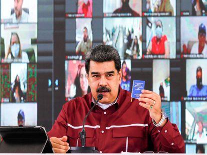 El mandatario venezolano, Nicolás Maduro, la semana pasada durante una comparecencia.