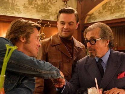 Brad Pitt, Leonardo DiCaprio y Al Pacino, en 'Érase una vez... en Hollywood'.