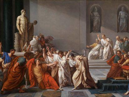 """La muerte de Julio César"", de Vicenzo Camuccini (1798)."