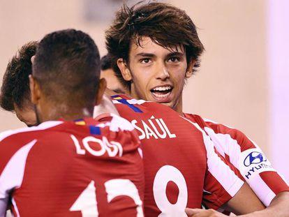 João Félix celebra su gol ante el combinado de estrella de la MSL.