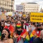 DVD1070 (09/11/2021) Manifestación contra la violencia LGTBI en la Puerta del Sol de Madrid.  ANDREA COMAS