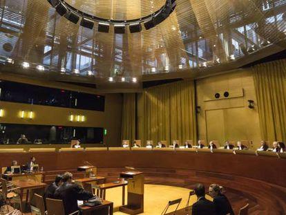 La Gran Sala del Tribunal de Justicia de la Unión Europea, en una imagen de archivo.