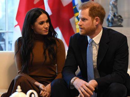 Enrique de Inglaterra y Meghan Markle, el 7 de enero en Londres.