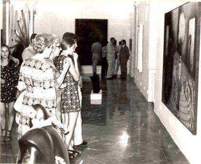 Inauguración de la segunda sede del Museo de Arte Contemporáneo de Sevilla en la Cilla del Cabildo en julio de 1972.