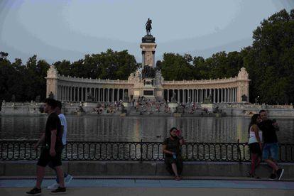 El estanque del Retiro en Madrid, uno de los enclaves que conforma el Paisaje de la Luz.