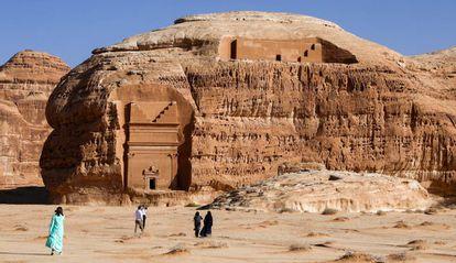 Madain Saleh, declarado patrimonio mundial por la UNESCO, en Al Ula (Arabia Saudí), el pasado febrero.