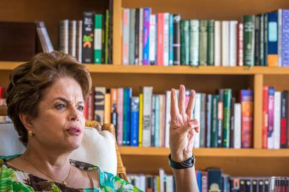 Dilma Rousseff, en su casa de Porto Alegre.
