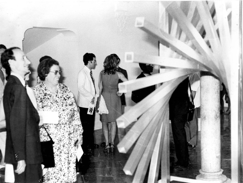 Inauguración de la segunda sede del Museo de Arte Contemporáneo de Sevilla en la Cilla del Cabildo, en julio de 1972.