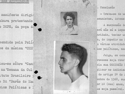 Extractos de la investigación contra Caetano Veloso durante la dictadura militar.