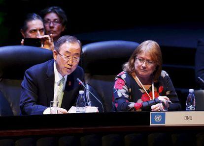 Ban Ki-Moon y su jefa de Gabinete en la secretaría general de la ONU, Susana Malcorra, en 2014. Ella será ministra de Exteriores de Argentina.
