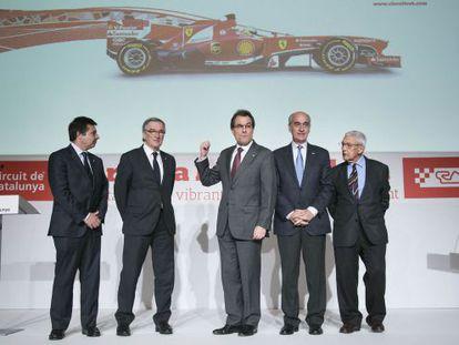 Acto de presentación del Gran Premio de Fórmula 1 del circuito de Montmeló (Vallès Oriental).