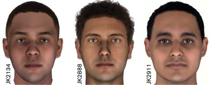 Ilustración del estudio sobre la reconstrucción del rostro de tres momias egipcias de hace 2.000 años.