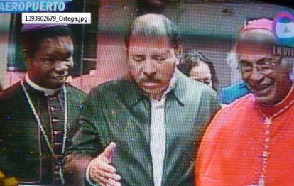 El presidente Ortega, este lunes en una imagen del Canal 6 de Nicaragua.