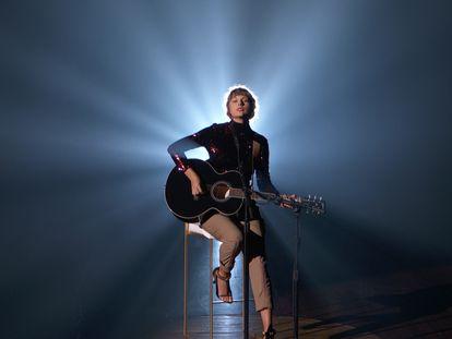 Taylor Swift, en la gala de los premios de la música 'country' celebrada en septiembre de 2020 en Nashville, Tennessee.