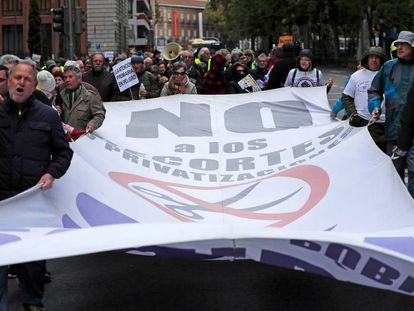 Manifestación frente al Ministerio de Sanidad por la sanidad pública en noviembre de 2019.