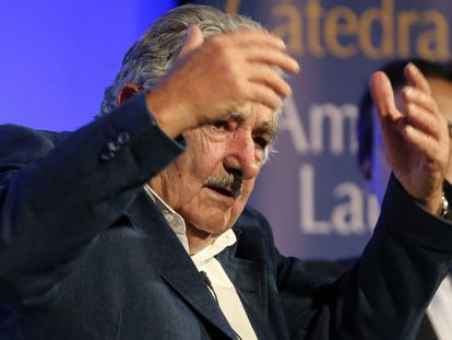 José Mujica, el viernes en Madrid.
