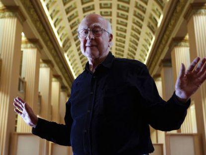 El físico Peter Higgs en la Universidad de Edimburgo.
