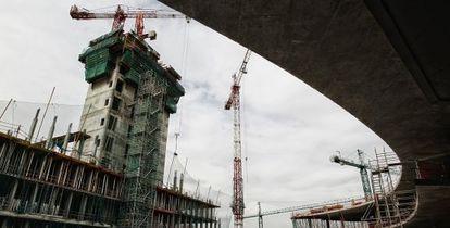 El edificio de La Vela en la nueva sede de BBVA.