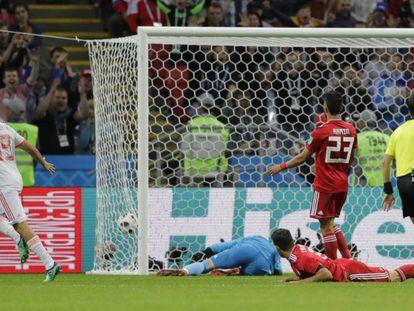 Diego Costa, tras el marca el gol de España