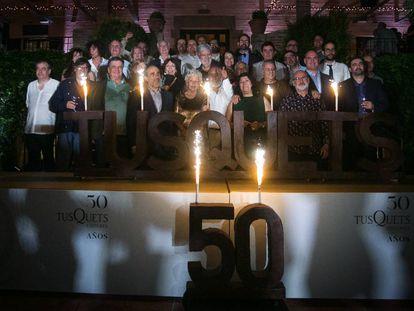 Celebración del 50 aniversario de Tusquets Editores.