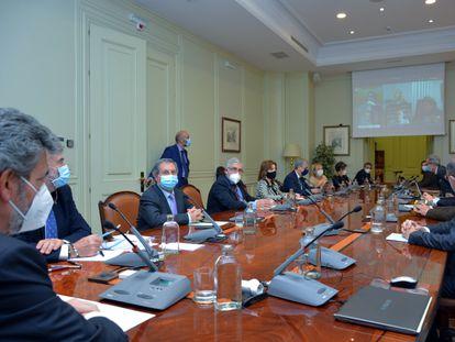 El pleno del Consejo general del Poder Judicial, en una reunión celebrada a finales de octubre.