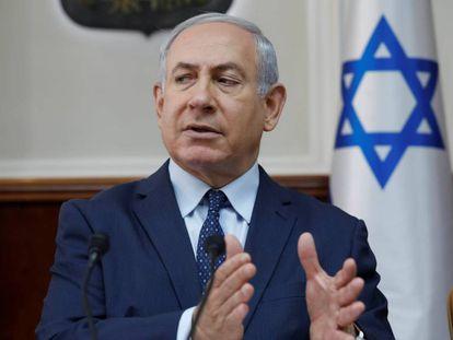 El primer ministro israelí Benjamín Netanyahu el pasado domingo en Jerusalén.