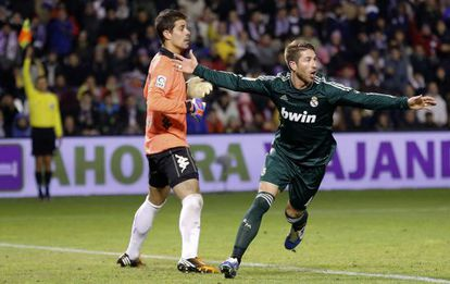 Ramos, tras anulársele el gol.