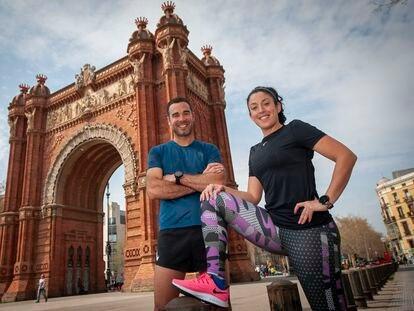 Barcelona, 13/03/2020. Damaris Manuel y Victor Carrilo iban a comeptir en el Maraton de Barceloa, aplazado por el coronavirus. (Foto: JUAN BARBOSA)