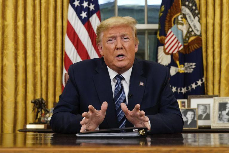 Trump, durante su discurso de este miércoles.