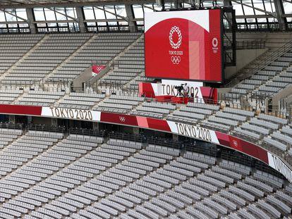 Un estadio vacío en los Olímpicos de Tokio.