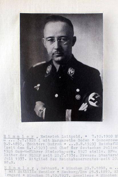 Informe genealógico sobre los orígenes de Himmler.