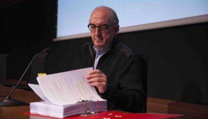 Jaume Roures, director general de Mediapro, en una rueda de prensa en febrero de 2016.