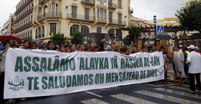 Protesta contra el vídeo sobre Mahoma.