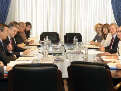 Un momento de la reunión de hoy del Consejo Vasco de Finanzas.