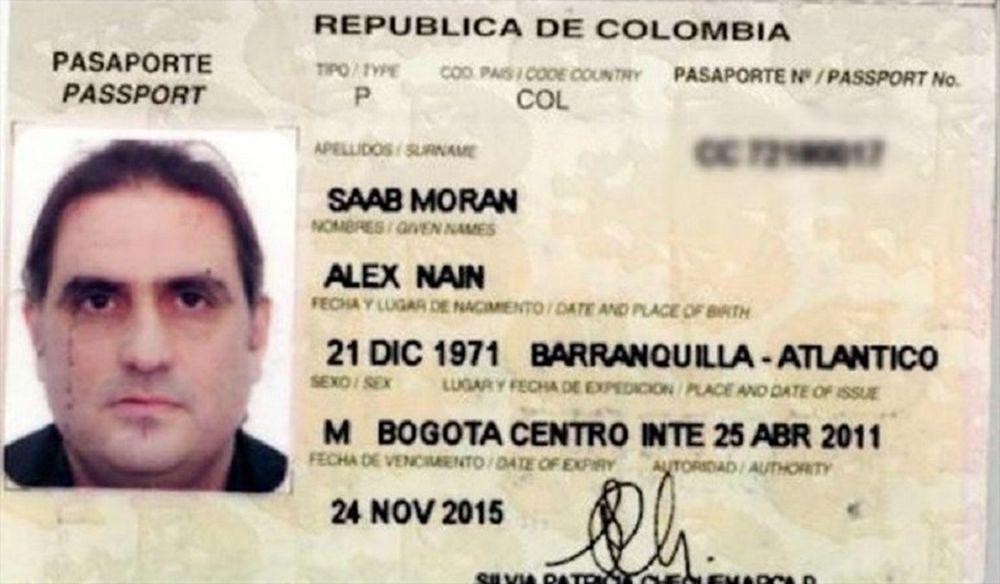 Imagen del pasaporte de Alex Saab, detenido en Cabo Verde.