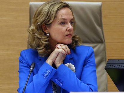 Nadia Calviño, ministra de Economía, el pasado mes de julio