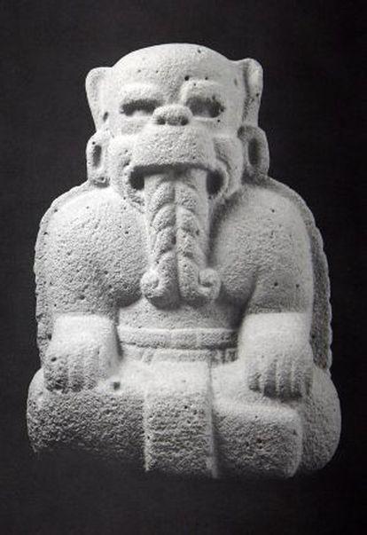 Pieza expuesta en la muestra de arte precolombino en Santiago en 1996.