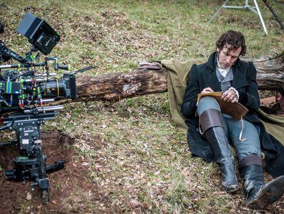 El actor Jorge Suquet en el rodaje de 'Libertad'.